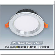 Đèn LED Âm Trần ANFACO AFC 441B 7W 3 CHẾ ĐỘ