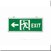 Đèn Lối Thoát Hiểm HP3 EXIT3 TRÁI 2 MẶT L355xW25xH145