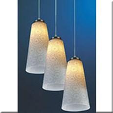 Đèn Thả Thủy Tinh VIR 5774/3 Ø90xH300