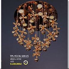 Đèn Thả Pha Lê BMC TPL-95136/600-25 Ø600xH700