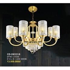 Đèn Chùm Nến Đồng BMC2 CĐ-D8331/8 Ø780xH550