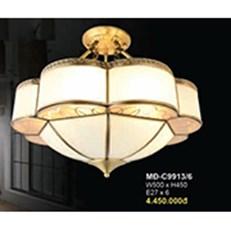 Đèn Áp Trần Đồng BMC2 MĐ-C9913/6 W500xH450