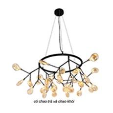 Đèn Chùm Nghệ Thuật BMC2 ĐT-2620/36 Thân Đen W1050xH365