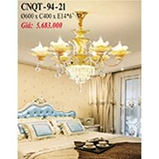 Đèn Chùm Pha Lê Nến PT6 CNQT-94-21 Ø600xH400