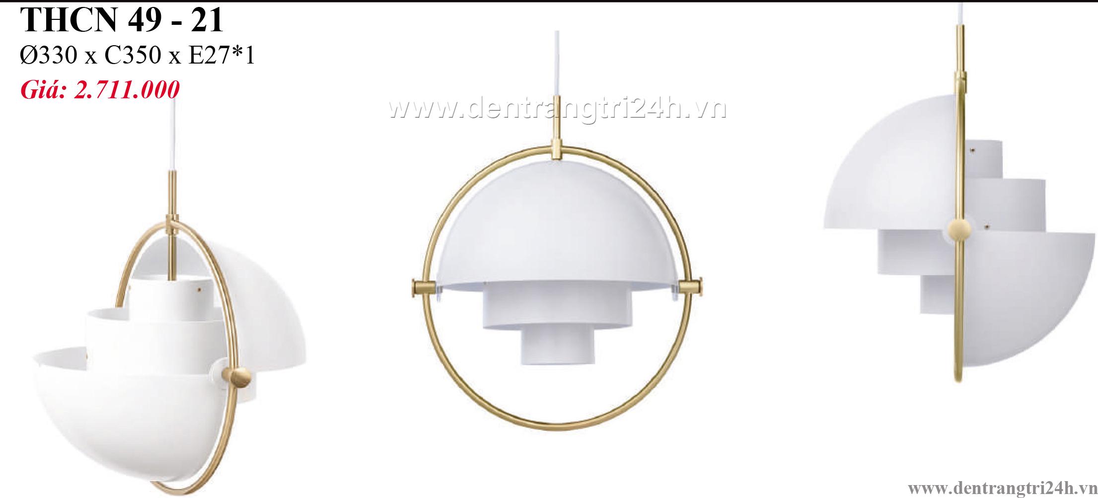 Đèn Thả Bàn Ăn PT6 THCN 49-21 Ø330xC350