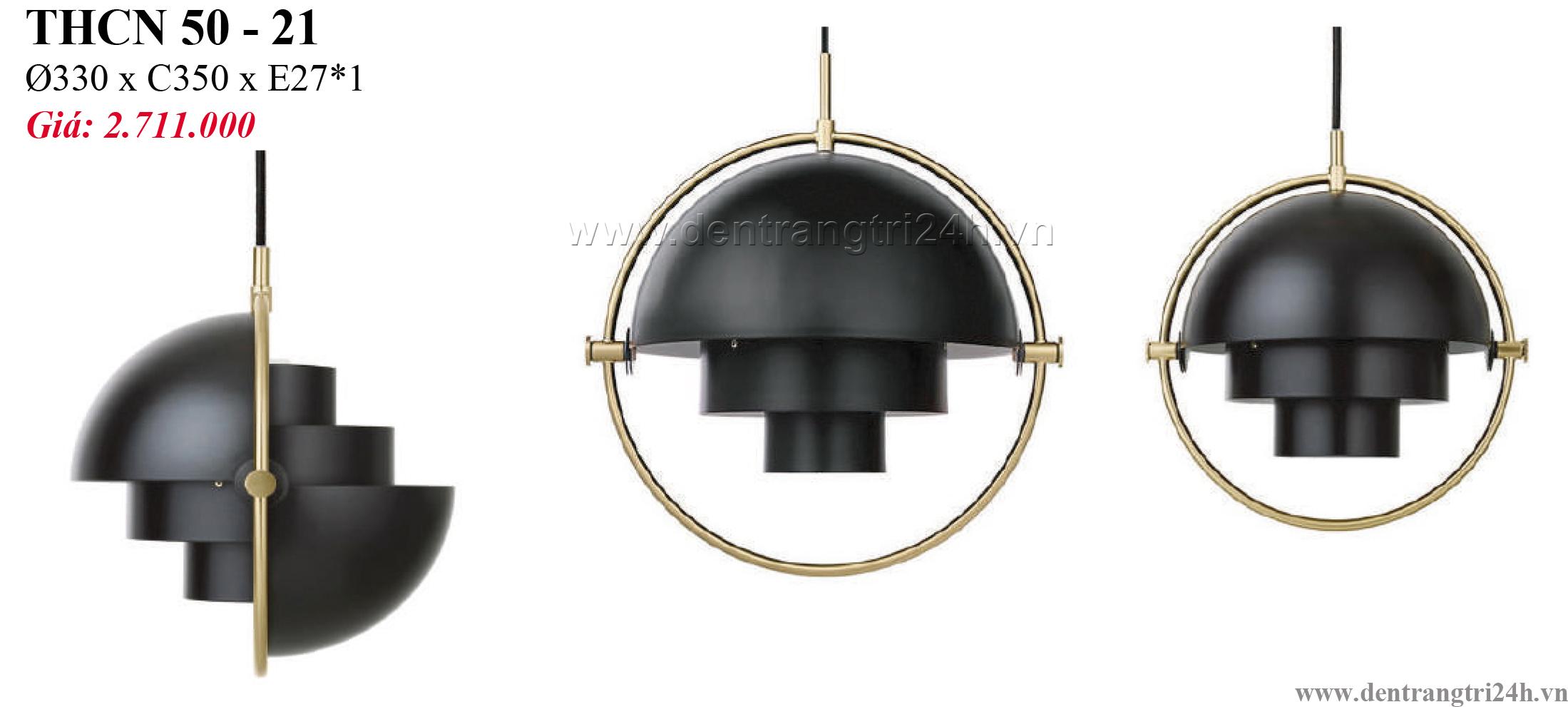Đèn Thả Bàn Ăn PT6 THCN 50-21 Ø330xC350