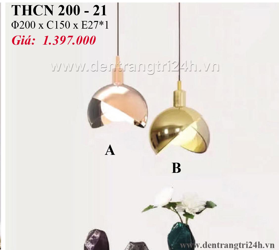 Đèn Thả Bàn Ăn PT6 THCN 200-21 Ø200xC150