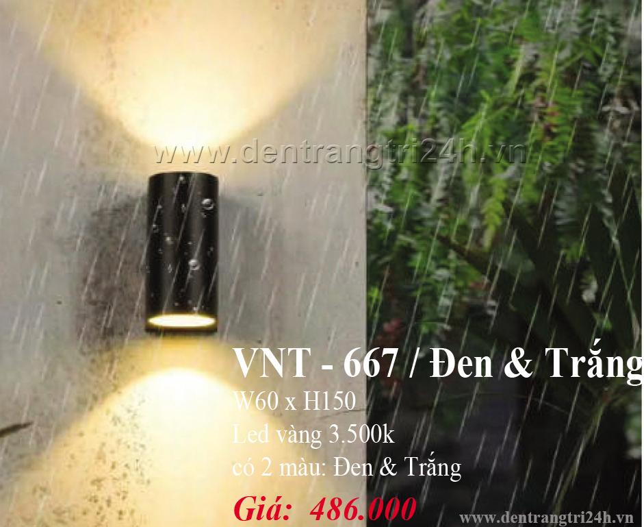 Đèn Vách Ngoại Thất PT6 VNT667 W60xH150
