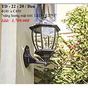 Đèn Vách Ngoại Thất PT6 TD-22-20/DEN Ø240xC450