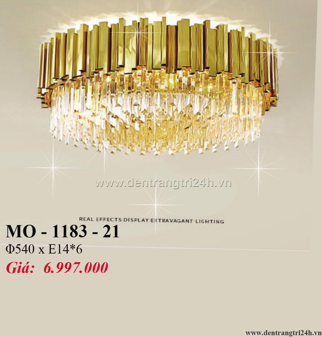 Đèn Mâm Pha Lê PT6 MO-1183-21 Ø540