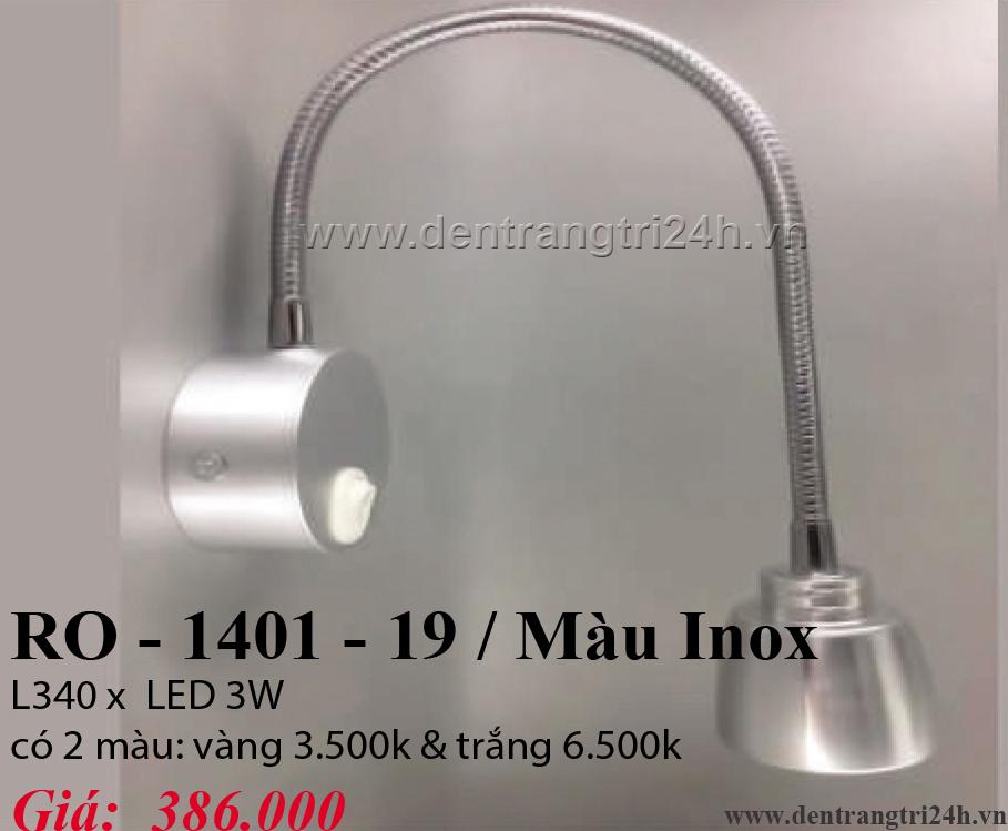 Đèn Tường Rọi PT6 RO-1401-19/INOX L340