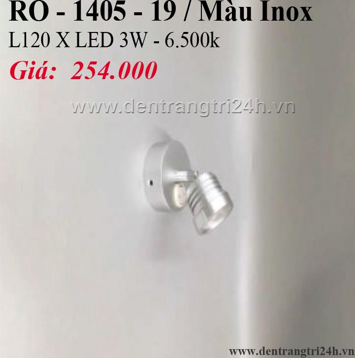 Đèn Tường Rọi PT6 RO-1405-19/INOX L120