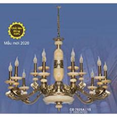 Đèn Chùm Đồng Đá SN2 CĐ 7029A/15 Ø1000xH700