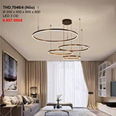 Đèn Thả Nghệ Thuật CTK2 THD.7046/4 Ø200x400x600x800