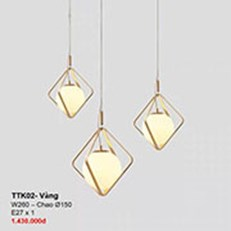 Đèn Thả Bàn Ăn CTK2 TTK02-VANG W260 - chao Ø150