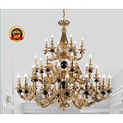 Đèn Chùm Đồng Cao Cấp KP6 1253/24+8+6 Ø1200xH1150