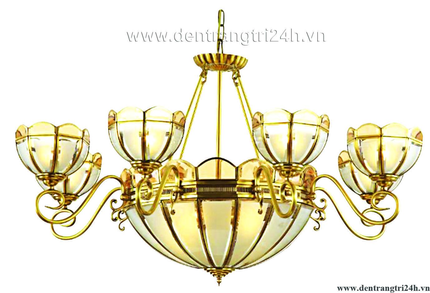 Đèn Chùm Đồng PT5 CDQT-69-20 Ø1000xC600