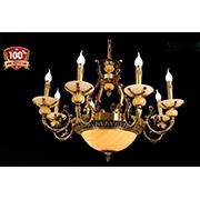 Đèn Chùm Nến Đồng VE2 CĐ-1380/8 Ø860xH600