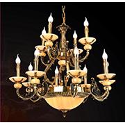 Đèn Chùm Nến Đồng VE2 CĐ-1380/12 Ø860xH760