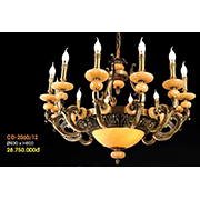 Đèn Chùm Nến Đồng VE2 CĐ-2060/12 Ø930xH600