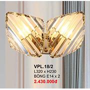 Đèn Tường Pha Lê CTK6 VPL.18/2 L320xH230