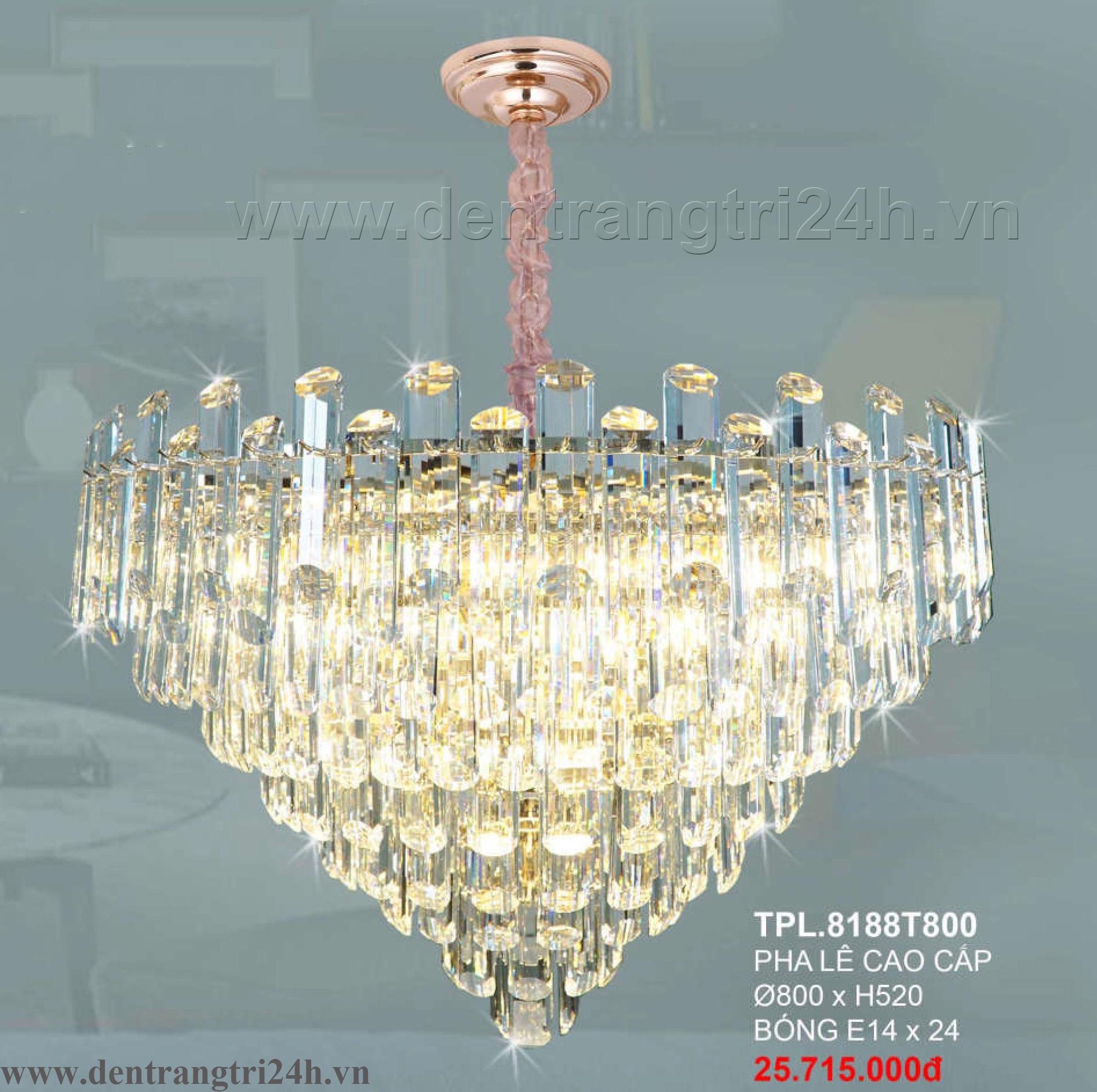 Đèn Chùm Pha Lê CTK6 TPL.8188T800 Ø800xH520