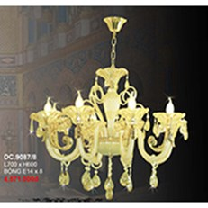Đèn Chùm Pha Lê Nến CTK6 DC.9087/8 L700xH600