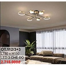 Đèn áp trần LED CTK6 OT.112/3+3 L780xH150