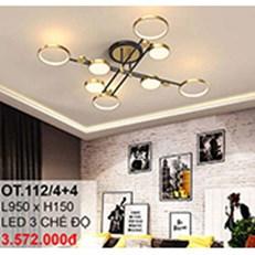 Đèn áp trần LED CTK6 OT.112/4+4 L950xH150
