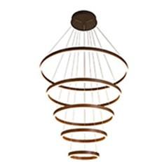 Đèn Thả Nghệ Thuật CTK6 THD.7051/5 NAU Ø200-400-600-800-1000xH3000