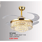 Đèn Chùm Quạt CTK6 QT.4240 Ø500
