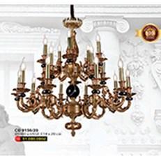 Đèn Chùm Nến Đồng WQ3 CĐ 9156/20 Ø1000xH950