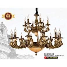 Đèn Chùm Nến Đồng WQ3 CĐ 9160/18 Ø950xH900