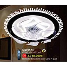 Đèn Mâm Led Quạt WQ3 MQ 9573 Ø500xH100