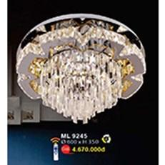 Đèn Mâm Led Pha Lê WQ3 ML 9245 Ø600xH350