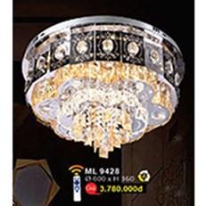 Đèn Mâm Led Pha Lê WQ3 ML 9428 Ø600xH360