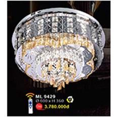 Đèn Mâm Led Pha Lê WQ3 ML 9249 Ø600xH360