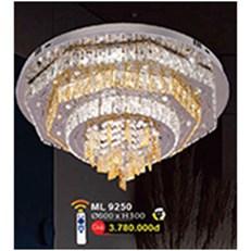 Đèn Mâm Led Pha Lê WQ3 ML 9250 Ø600xH300