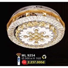 Đèn Mâm Led Pha Lê WQ3 ML 9254 Ø500xH160