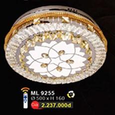 Đèn Mâm Led Pha Lê WQ3 ML 9255 Ø500xH160