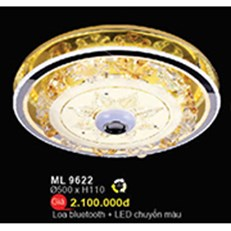 Đèn Mâm Led Pha Lê WQ3 ML 9622 Ø500xH110