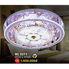 Đèn Mâm Led Pha Lê WQ3 ML 9271 Ø500xH100