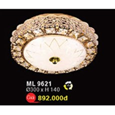Đèn Mâm Led Pha Lê WQ3 ML 9621 Ø300xH140