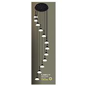 Đèn Thả Thông Tầng HP6 TL 66601/12 Ø600xH2800