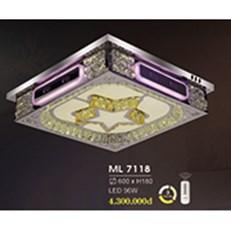Đèn Mâm Pha Lê HP6 ML 7118 600xH180