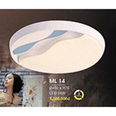 Đèn áp trần LED HP6 ML 14 Ø450xH70
