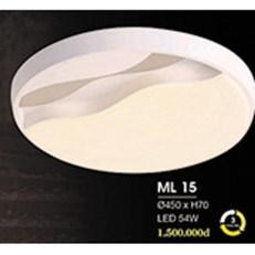 Đèn áp trần LED HP6 ML 15 Ø450xH70