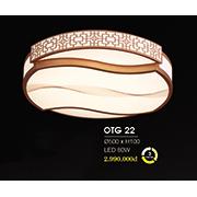 Đèn ốp trần gỗ HP6 OTG 22 Ø500xH100