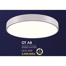 Đèn áp trần LED HP6 OT A8 Ø500xH100