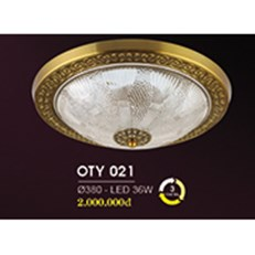 Đèn Ốp Trần Cổ Điển HP6 OT Y021/380 Ø380